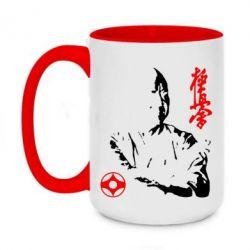 Кружка двоколірна 420ml Kyokushin Kanku logo