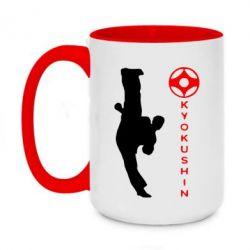 Кружка двухцветная 420ml Kyokushin Kick