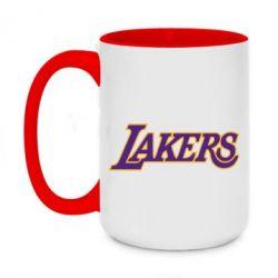 Кружка двухцветная 420ml LA Lakers - FatLine