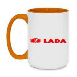 Кружка двухцветная 420ml Lada