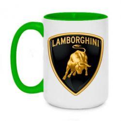 Кружка двоколірна 420ml Lamborghini Logo