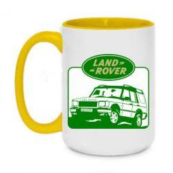Кружка двоколірна 420ml Land Rover