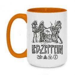 Кружка двухцветная 420ml Led-Zeppelin Art