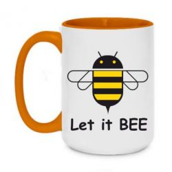 Кружка двухцветная 420ml Let it BEE Android