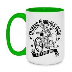 Кружка двоколірна 420ml Let's Ride Bike