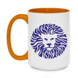 Кружка двухцветная 420ml лев - FatLine