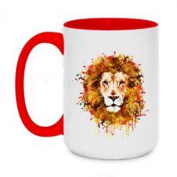 Кружка двоколірна 420ml Lion Art - FatLine