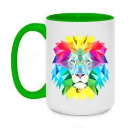 Кружка двухцветная 420ml Lion vector