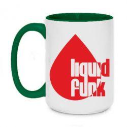 Кружка двухцветная 420ml Liquid funk