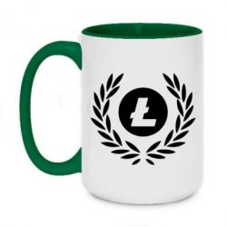 Кружка двоколірна 420ml Litecoin and spikelets