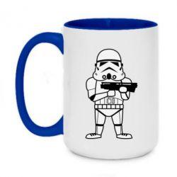 Кружка двоколірна 420ml Little Stormtrooper