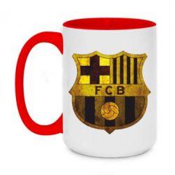 Кружка двоколірна 420ml Логотип Барселони