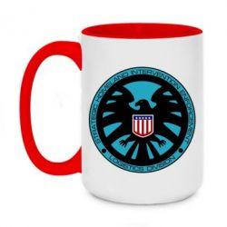 Кружка двухцветная 420ml Логотип Щита