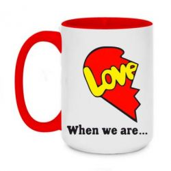 Кружка двухцветная 420ml Love Is...When we are