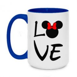 Кружка двухцветная 420ml Love Mickey Mouse (female) - FatLine