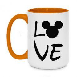 Кружка двоколірна 420ml Love Mickey Mouse (male)