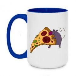 Кружка двухцветная 420ml Love Pizza 2