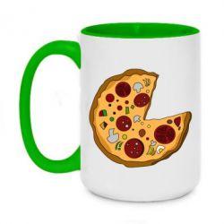 Кружка двоколірна 420ml Love Pizza