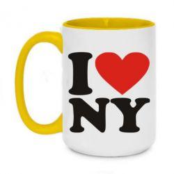 Кружка двоколірна 420ml Люблю Нью Йорк