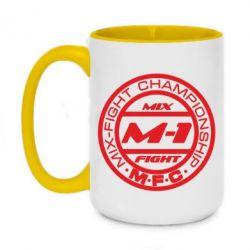 Кружка двухцветная 420ml M-1 Logo - FatLine