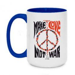 Кружка двоколірна 420ml Make love, not war