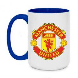 Кружка двоколірна 420ml Манчестер Юнайтед