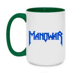 Кружка двоколірна 420ml Manowar