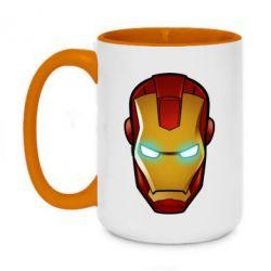 Кружка двухцветная 420ml Маскаа Железного Человека