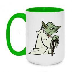 Кружка двоколірна 420ml Master Yoda