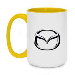 Кружка двухцветная 420ml Mazda 3D Small Logo