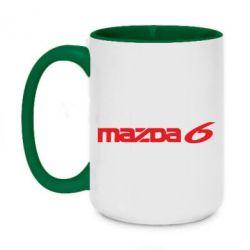 Кружка двухцветная 420ml Mazda 6 - FatLine