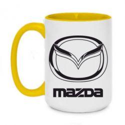 Кружка двоколірна 420ml Mazda Logo