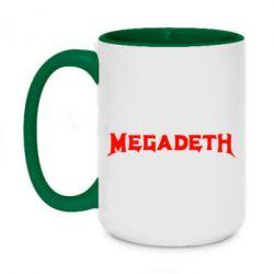 Кружка двоколірна 420ml Megadeth