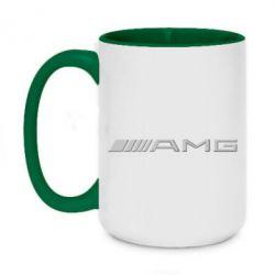 Кружка двоколірна 420ml Mercedes-AMG (металік)