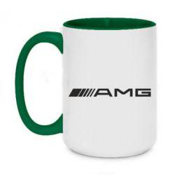 Кружка двоколірна 420ml Mercedes-AMG