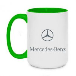 Кружка двоколірна 420ml Mercedes Benz logo