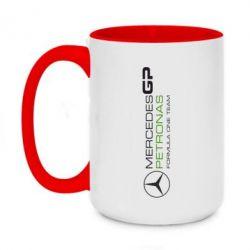 Кружка двухцветная 420ml Mercedes GP Vert