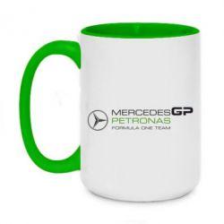 Кружка двухцветная 420ml Mercedes GP