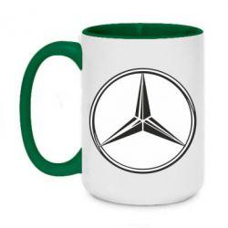 Кружка двоколірна 420ml Mercedes