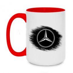 Кружка двухцветная 420ml Мерседес арт, Mercedes art