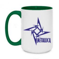 Кружка двухцветная 420ml Metallica Logotype - FatLine