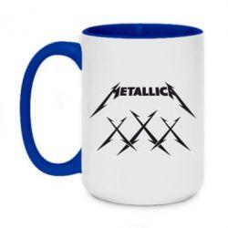 Кружка двоколірна 420ml Metallica XXX