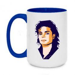 Кружка двоколірна 420ml Michael Jackson Graphics Cubism
