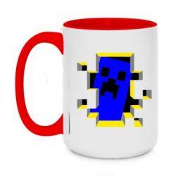 Кружка двоколірна 420ml Minecraft 3D