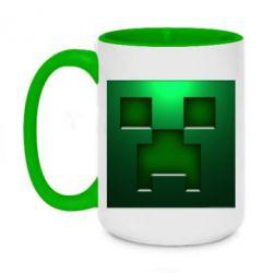 Кружка двухцветная 420ml Minecraft Face
