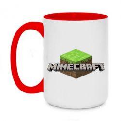Кружка двухцветная 420ml Minecraft Land