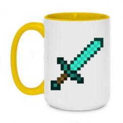 Кружка двоколірна 420ml Minecraft меч