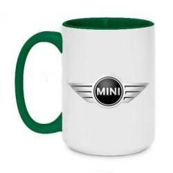 Кружка двухцветная 420ml Mini Cooper - FatLine