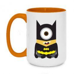 Кружка двоколірна 420ml Minion Batman