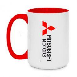 Кружка двухцветная 420ml Mitsubishi Motors лого